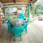 book library and lounge area in rio dulce